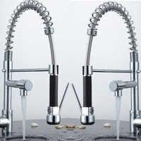 Becola Nuovo Pull Out Rubinetto della cucina Chrome Water Power da cucina Lavello Miscelatore rubinetto Due Maniglia In Ottone rubinetto 500 centimetri di alta CH-8002