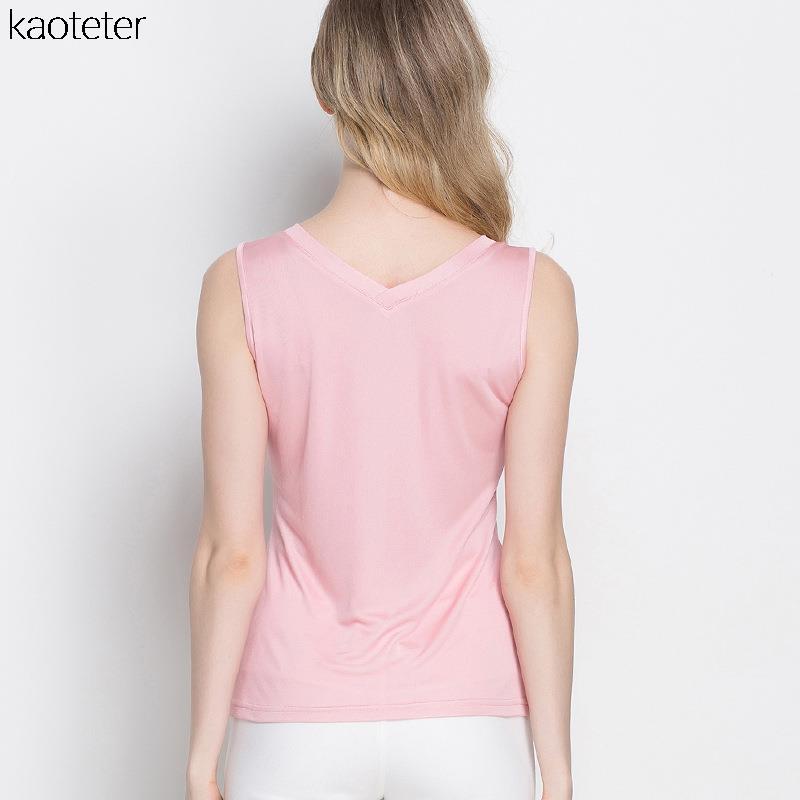 100% մաքուր մետաքսյա կանացի տանկի - Կանացի հագուստ - Լուսանկար 5