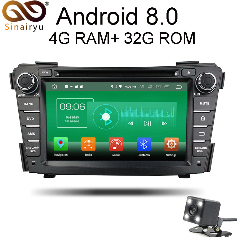Sinairyu 4G RAM Android 8.0 Car DVD For Hyundai I40 2011 2012 2013 2014 Octa Core 32G ROM Radio GPS Multimedia Player Head Unit