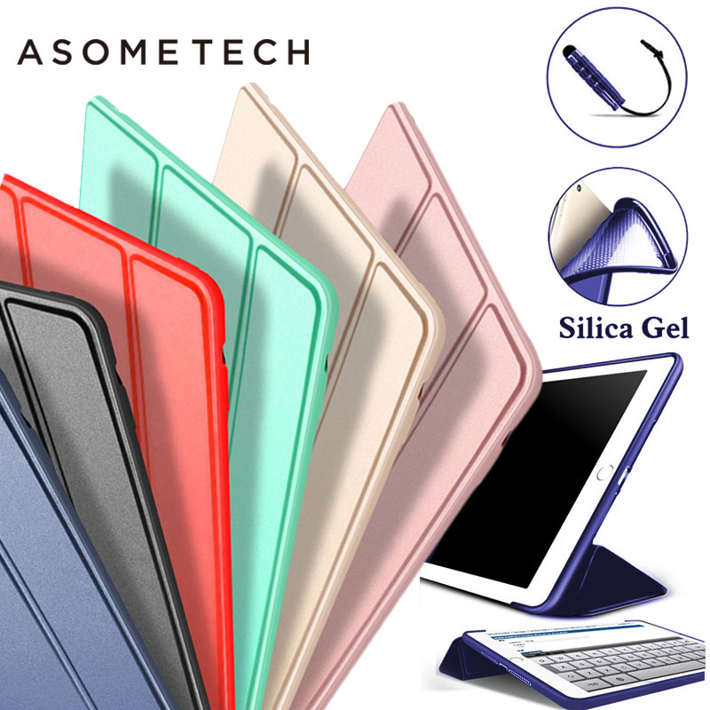 TPU Silica gel case funda for Apple iPad 2017 cover Silicone soft shell for 2017 new iPad 9.7 inch tablets Flip Stand Capa A1822 high quality clear soft tpu transparent gel silicone bumper tab case skin cover for apple ipad 2 ipad 3 ipad 4