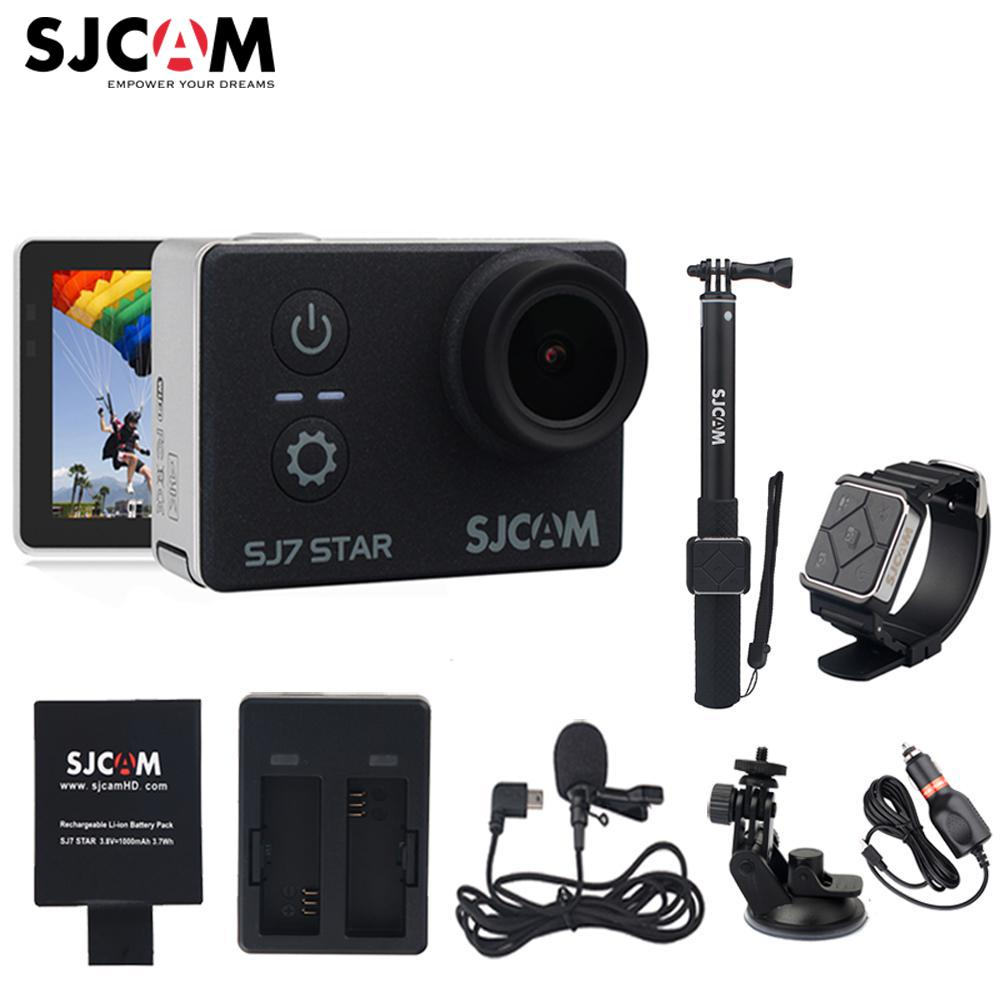 Original SJCAM SJ7 estrella Wifi Ultra HD 4 K 2''Touch pantalla remoto Ambarella A12S75 30 m impermeable deporte acción Cámara mini coche DVR