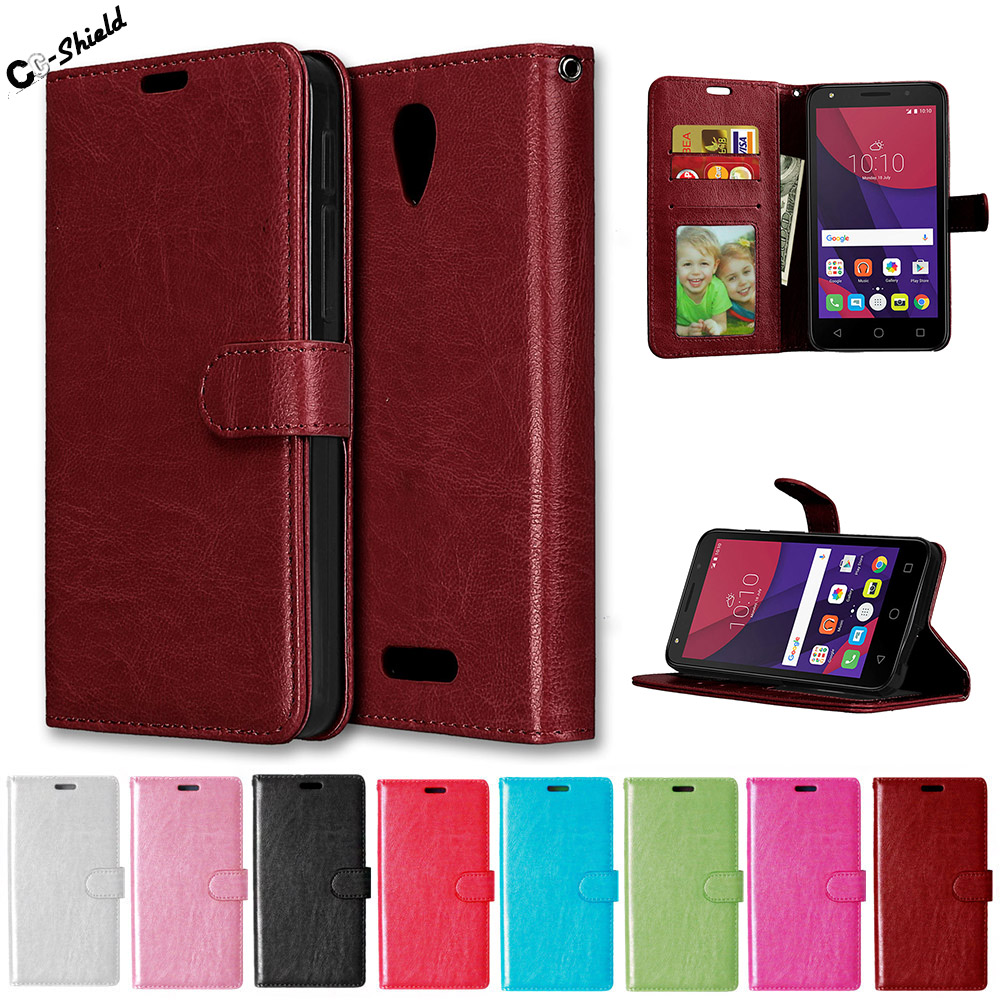 Flip Case for <font><b>Alcatel</b></font> One Touch POP 4 POP4 Plus 4Plus 5056 <font><b>5056D</b></font> OT-<font><b>5056D</b></font> Case Leather Cover for <font><b>Alcatel</b></font> POP4Plus 5056X OT-5056X image