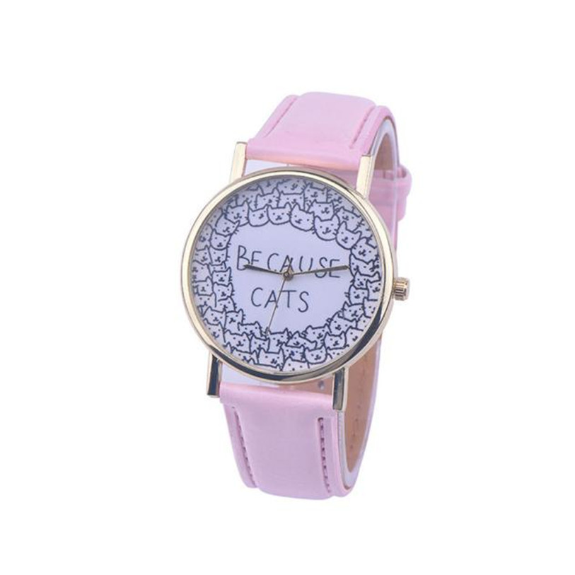 Superior Hot Fashion Women's PU Leather Band Quartz Vogue Wrist Watches Cute Cat relojes Gift For Girls Oct 25 fabulous 2016 quicksand pattern leather band analog quartz vogue wrist watches 11 23
