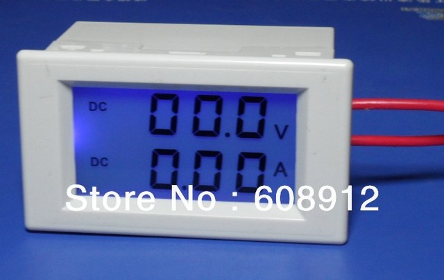 Digital Amp Meter Panel : D85 3050 lcd digital dc voltmeter ampmeter panel mount meter voltage