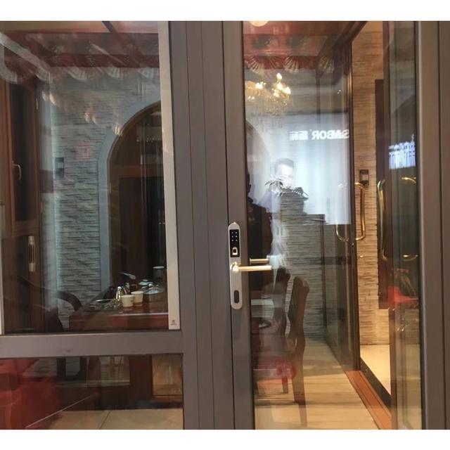 Jcsmarts Fully Waterproof Stainless Steel Electronic Door Lock Fingerprint Locks for Aluminum Glass Gate Door