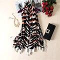 Mujeres Foulard Pañuelo De Seda Estampado de Leopardo de Moda de Gran Tamaño Bufandas Del Diseñador A Estrenar 190x110 cm [1853]