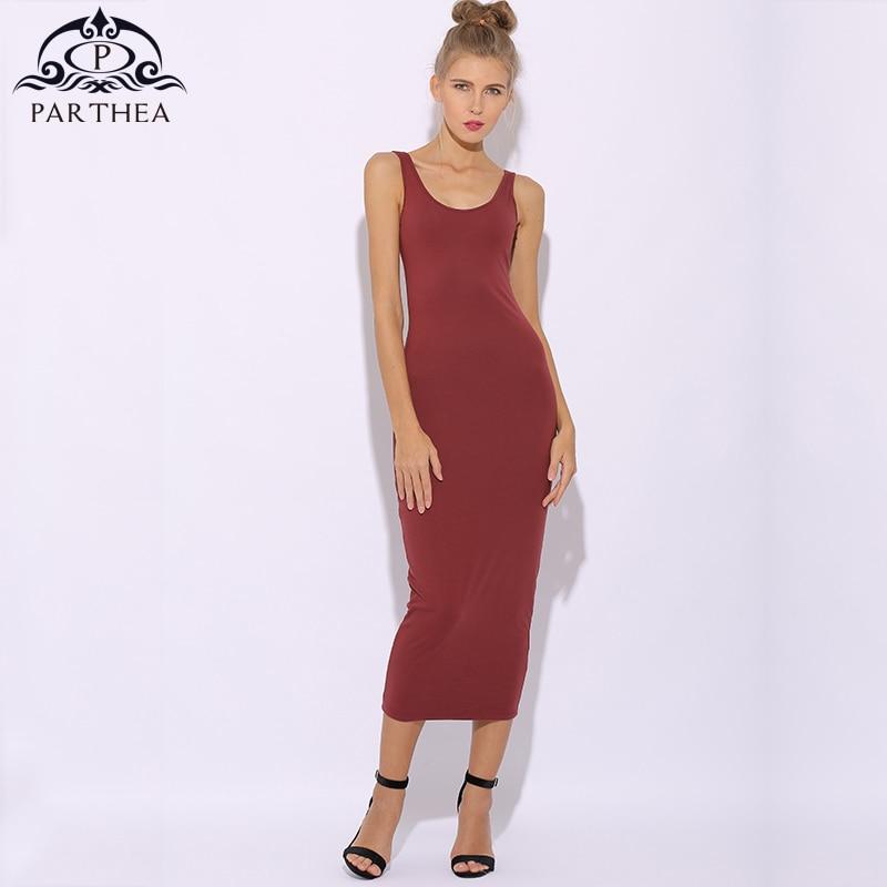 244582551da Parthea 2 Layers Cotton Summer Dress 2018 Plus Size Long Dress Midi Dresses  Tunic Maxi Bodycon