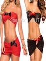 Mujeres Íntimos de las mujeres Resbalones Medio Caliente Sexy Slip de Encaje Negro Rojo