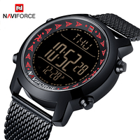 NAVIFORCE Casual Men Outdoor Sport Watches Mens Fashion Waterproof Digital Watch Man Pedometer Calories Wristwatch Reloj Hombre