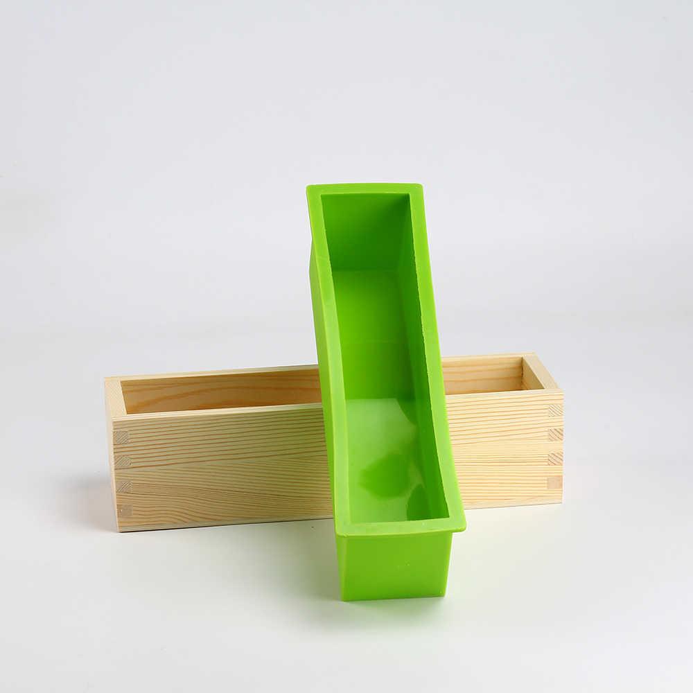 Николь силиконовые формы для производства мыла набор инструментов-4 регулируемый деревянный нож для хлеба коробка и 2 шт. лезвия из нержавеющей стали