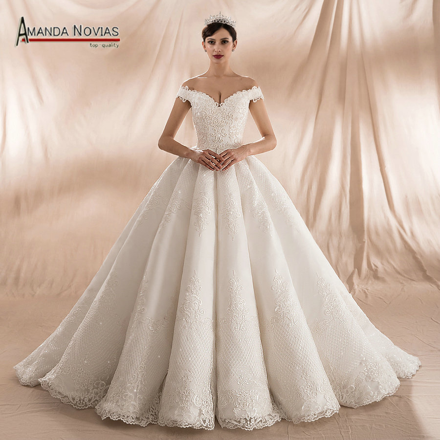 Amanda novias 2018 collection ball gown wedding dresses for White after wedding party dress