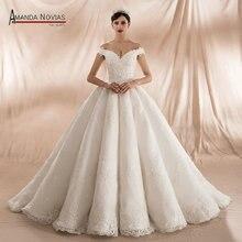 アマンダ Novias 2020 コレクション夜会服のウェディングドレス新着
