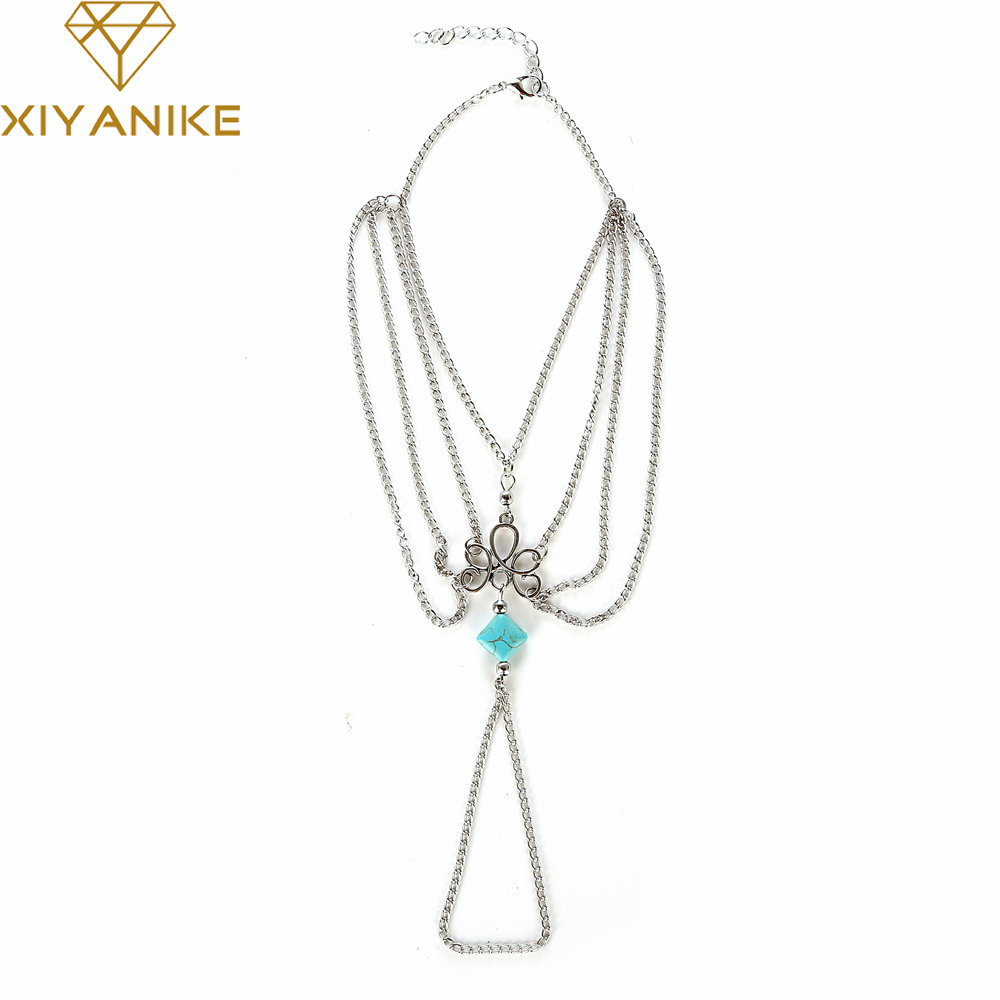 Jewelry Sets & More Frugal Xiyanike 2017 Bohemia Tassel Multi-storey Flower Acrylic Pendant Anklet Feminine Sexy Legs Long Beach Jewelry Ankle Gift Xy-b102 Jewelry & Accessories