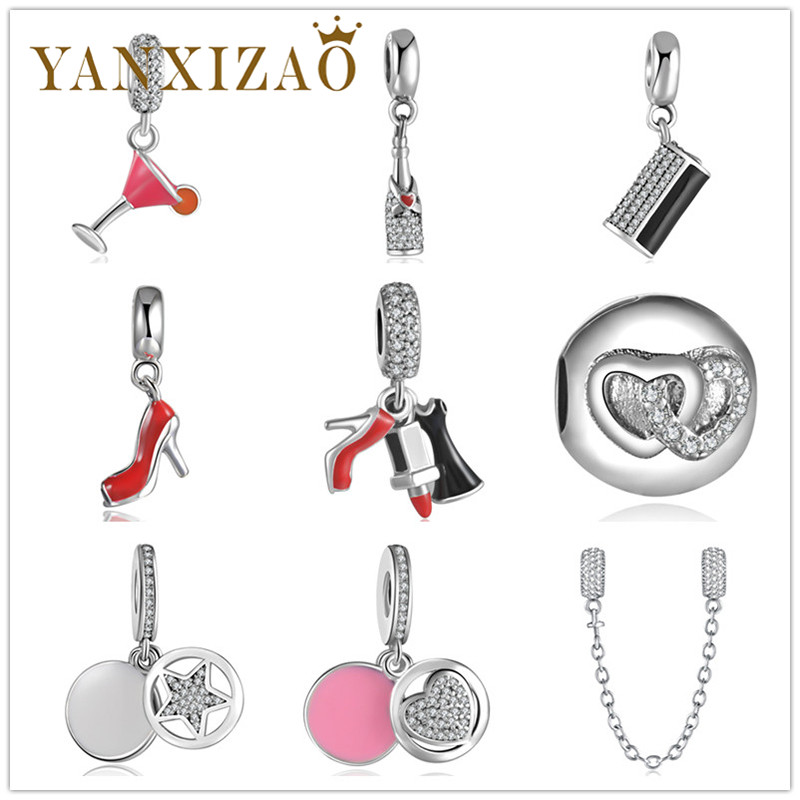 Capable Yanxizao Sterling Silver 925 European Cz Beads Fit Pandora Animal Star Shaped Accessories Colorful Diy Jewelry Originals Xin1 Beads & Jewelry Making
