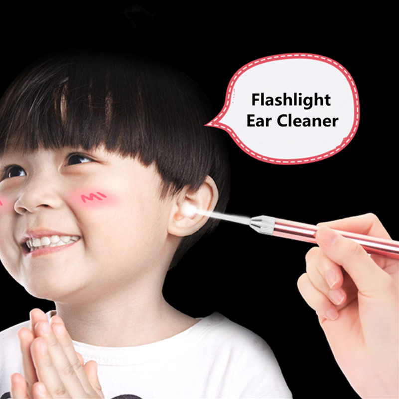 LED Light Earpick Lighted Ear Cleaner Ear Wax Removal Luminous Dig Ear Wax Spoon Cleaning Tool for Kids and Adult 1