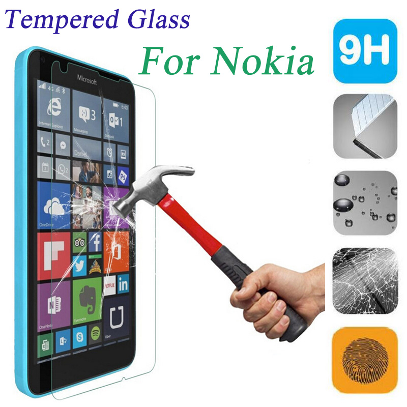 Tempered Glass For Nokia <font><b>Lumia</b></font> 630 640 650 435 520 <font><b>530</b></font> 535 730 820 920 1020 1320 1520 XL Screen Protector Cover Protective Film image