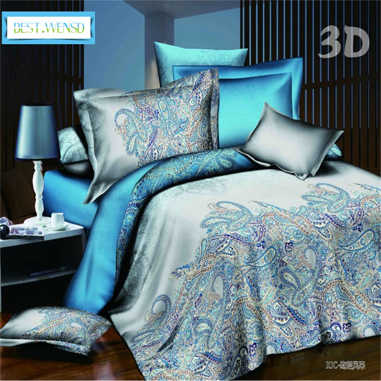 BEST.WENSD Quality Luxury Home /Hotel 3/4pc Bedclothes Kids Full Queen King Size Peacock- Red Rose Ultra Soft Wedding Beddengoed