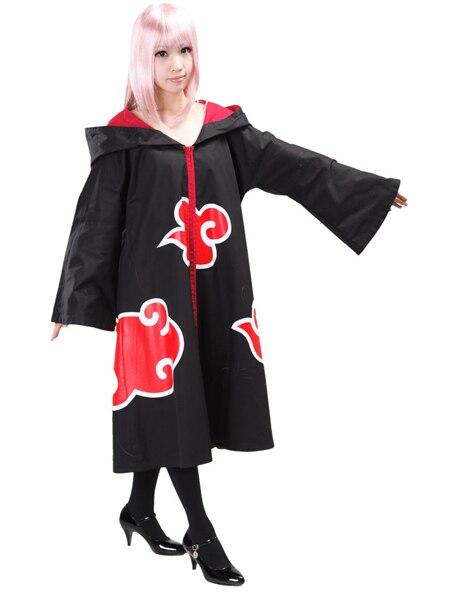 Free shipping font b Naruto b font Akatsuki font b Cosplay b font Costume