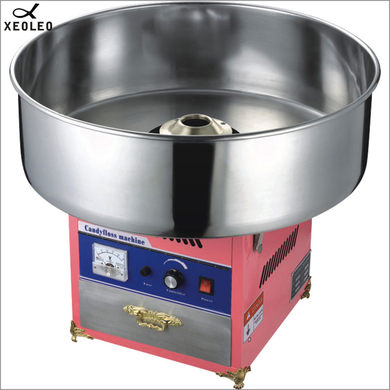 XEOLEO Electric cotton candy maker Commercial Cotton Candy Floss Machine Various Floss Spun Sugar Machine  220V/stainless steel