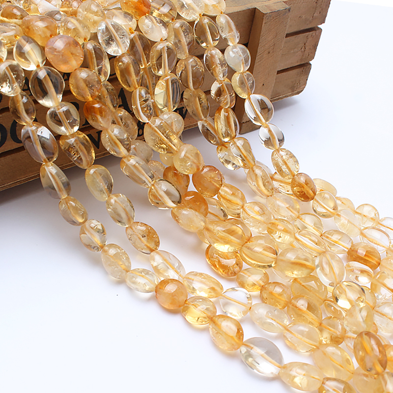 Natural Stone Beads 8-10mm Irregular Citrine Yellow Crystal Stone Beads For Jewelry Making Bracelet Necklace 15inches