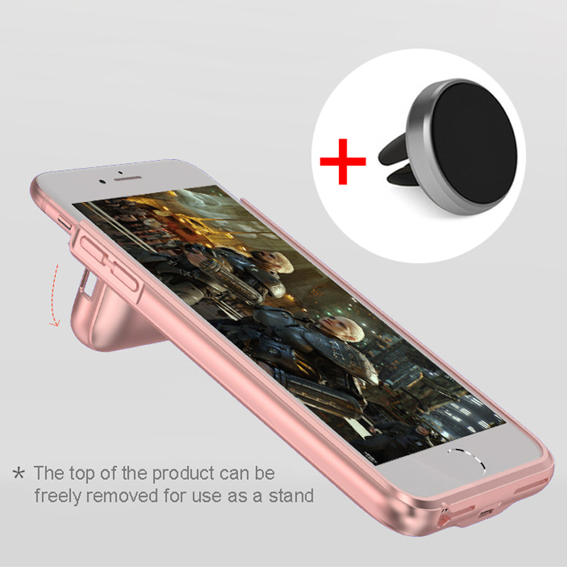 RCN Battery Case Charger for iPhone 6 6S 7 Plus 4200mAh Magnetic Power bank backup Battery Charging Cases with car holder