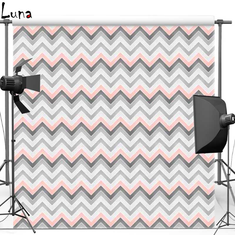 Gray Wave Chevron pattern Vinyl Cloth Photography Background Backdrops for Wedding photo studio Free shipping F1014(8) missoni for target travel tote colore chevron pattern