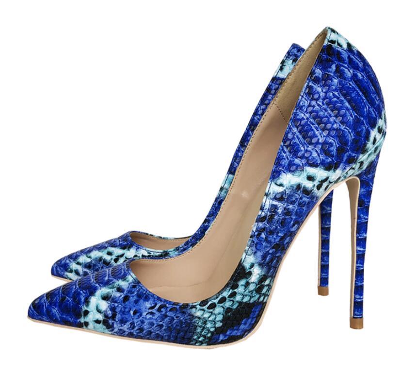À Bouche Pompes Serpent 12cm 8cm Heels Nouveau En Femmes Profonde 2019 Talons Hauts Peau Heels Banquet Pointu De Sexy Stiletto Chaussures 10cm Automne Peu Motif Cuir Bout Heels FX6nCwq81x