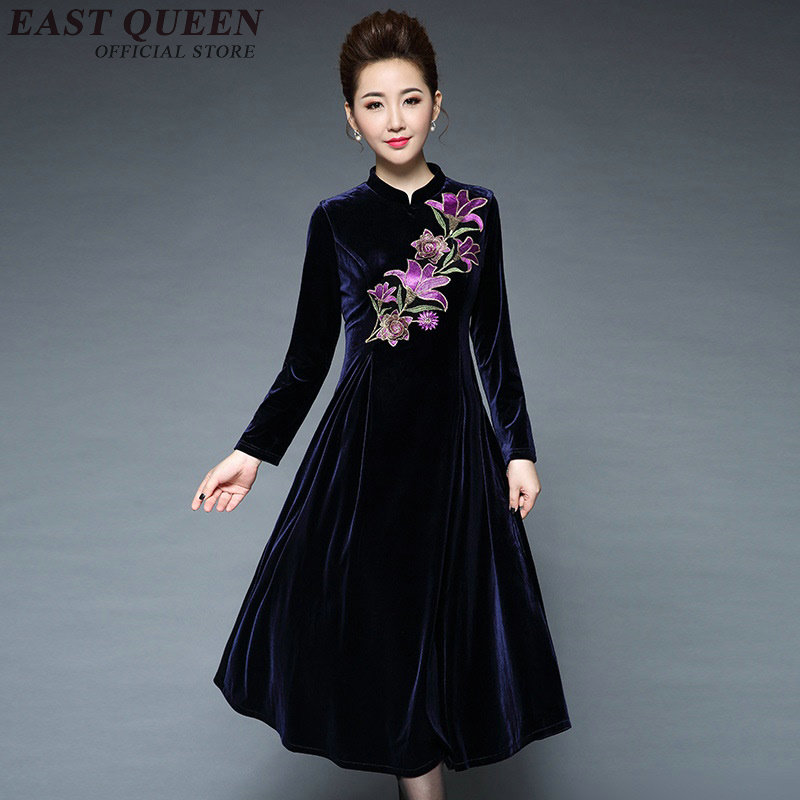 Dresses Middle Aged Women Clothing Chinese Traditional
