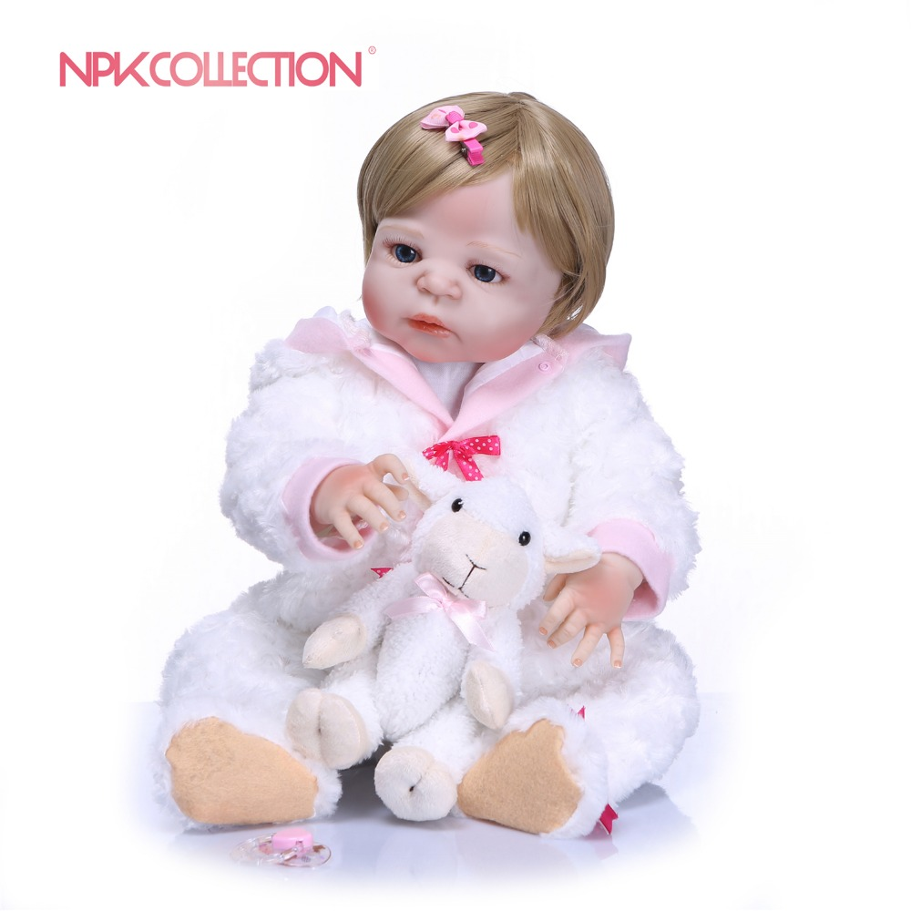 NPKCOLLECTION 55cm Lifelike Reborn Baby Dolls White Skin Babies Doll Full Vinyl Silicone Body Baby Gift Playmates for KidsNPKCOLLECTION 55cm Lifelike Reborn Baby Dolls White Skin Babies Doll Full Vinyl Silicone Body Baby Gift Playmates for Kids