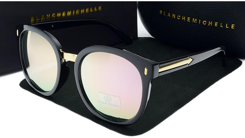 2017 de Alta Qualidade Espelho Redondo Óculos De Sol Mulheres Polarizada  UV400 Polaroid de óculos de sol Óculos de Sol Marca Designer Oculos Feminino a063c6731e