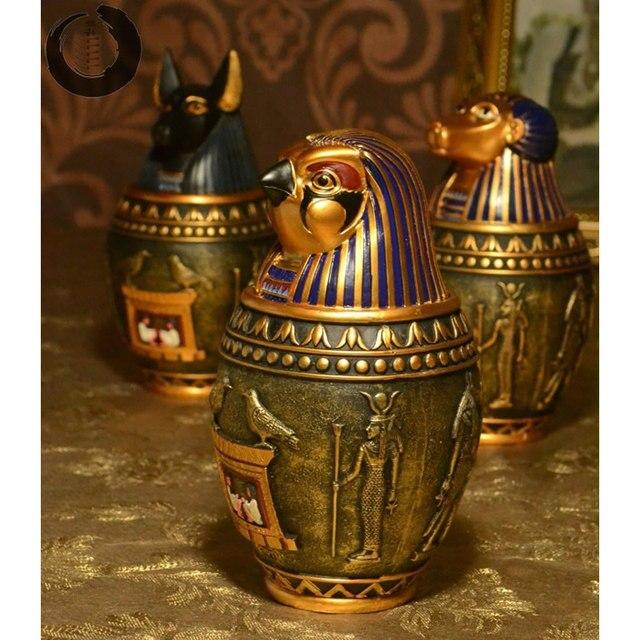 Koop creatieve oude egyptische standbeeld decoratie opslag potten retro griekse - Oude griekse decoratie ...