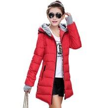 Tengo Женщины Новый Корейский Тонкий Длинные Хлопка Ватник Дамы Женщин Зимнее Пальто Куртки