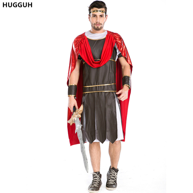 HUGGUH Brand New Roman Soldier Cosplay Costume Mens Clothing Set Gladiator Spartans Halloween Warrior Costume Hot  sc 1 st  AliExpress.com & HUGGUH Brand New Roman Soldier Cosplay Costume Mens Clothing Set ...