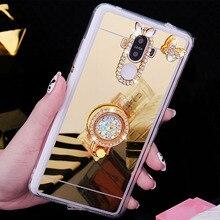 Glitter Diamond Mirror Phone Cases For Huawei Honor 7X 5X 6A 6X 6C V8 V9 V10 Bling Back Cover Honor 9 Case TPU Honor 10 8 Lite