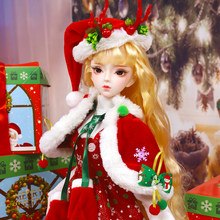 Fortune Days dress for 1/3 BJD doll 62cm New Christmas suit with delicate hat high quality toy gift box ICY,SD(China)