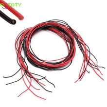 1Set 24AWG Silicone Gauge Flexible Wire Stranded V Copper Cables 5m For RC Black Red