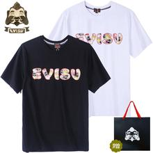 Evisu Spring Summer Classic Logo Cotton Mens Casual Short-Sleeved O-Neck Breathable Men And Women Lovers Short Sleeve Vest H607