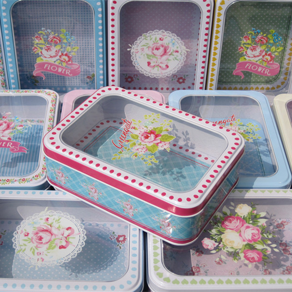 3PCS/lot Chic Cookies Candy Box Transparent Gift Money Jewelry Boxes Metal Tin Case : money in candy box - Aboutintivar.Com