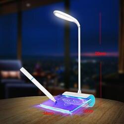 Креативное сообщение настольные лампы Современные 3 режима настольные лампы светодиодное освещение студенты 1200 мАч usb зарядка сенсорный