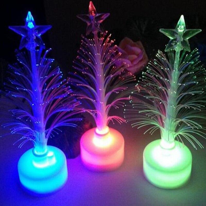 Christmas Tree 7 color Changing Colorful Fiber Optic Nightlight Christmas Tree PartyIndoorHolidayChristmas Decor (7)
