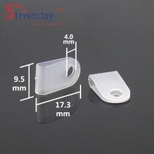 100pcs/bag Black White 3.3 U type line clamp Cable retention clips Type Line deduction Clips