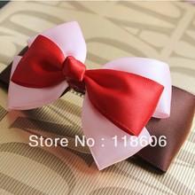 Corea del hermoso envío gratis sólido Grosgrain cinta del pelo arco del pelo de Headwear accesorios para el bebé niños señora mamá