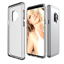 mobile phone bags Shockproof Transparent fitted Silicone clear case for samsung s6 s7 edge s8 s9 s10 plus a6 a7 a8 a9 2017 2018