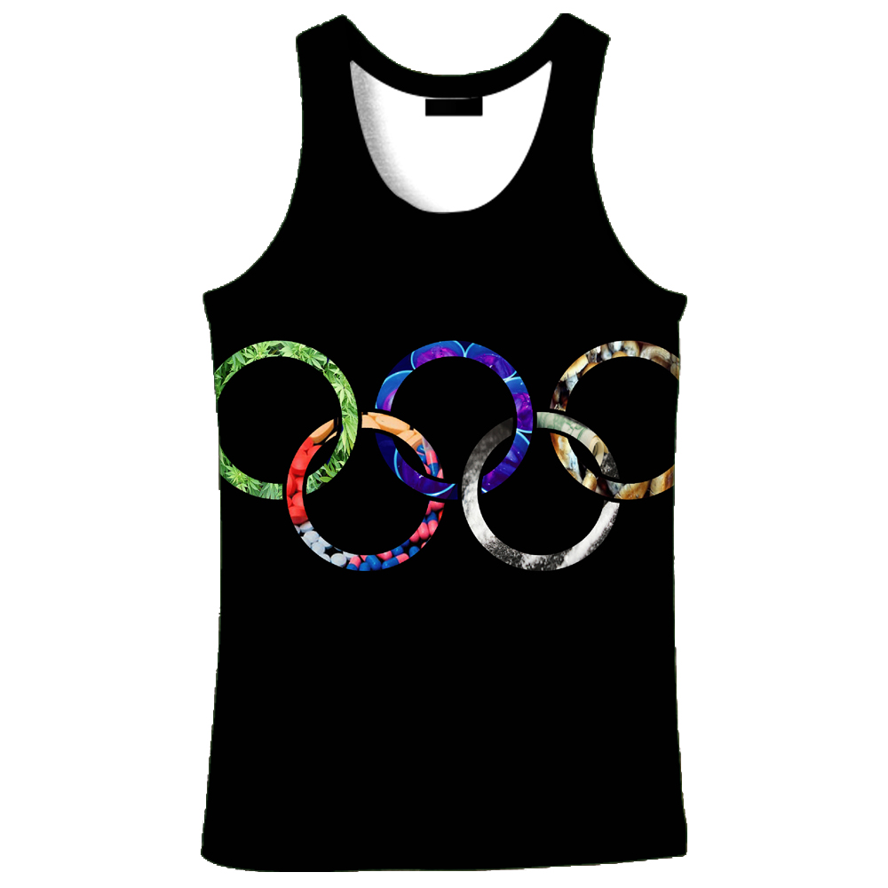 2018 hot sale New fashion 3D men's Rings print 9 size casual Tanktop  custom-made print free shipping