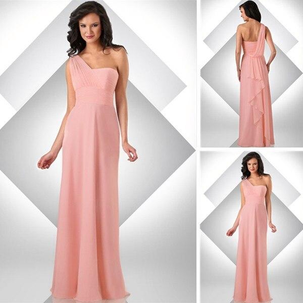 One Shoulder Empire Waist Bridesmaid Dresses