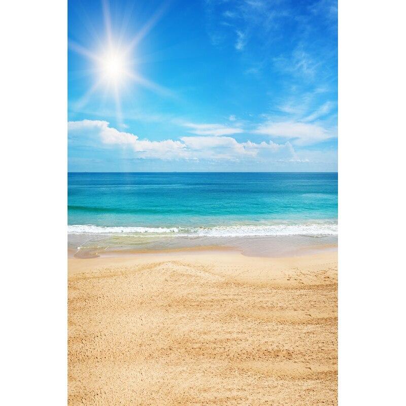 photography backdrop thin vinyl newborn Beach, sunshine background 5X7ft YKY-938