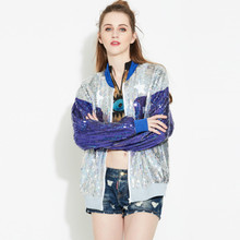 Chic Hip hop Number 88 long sleeved performance Stage clothing zipper bead jacket font b Coat