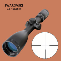 Hunting 2.5 15x56 IRZ3 Optics Sight Rifle Scope F15 Reticle Red Dot Scope Tactical Riflescope with Rings for Shooting Rifle