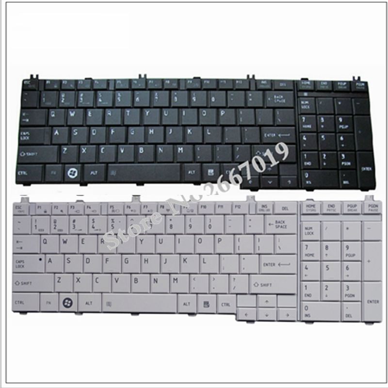 YALUZU NEW US keyboard For toshiba FOR Satellite C655 C650 C655D C660 L650 L655 L670 L675 L750 L755 US laptop keyboard-in Replacement Keyboards from Computer & Office on