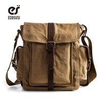 Canvas Leather Bags 2016 Men S Travel Bag Canvas Men Messenger Bag Brand Mini Size Men